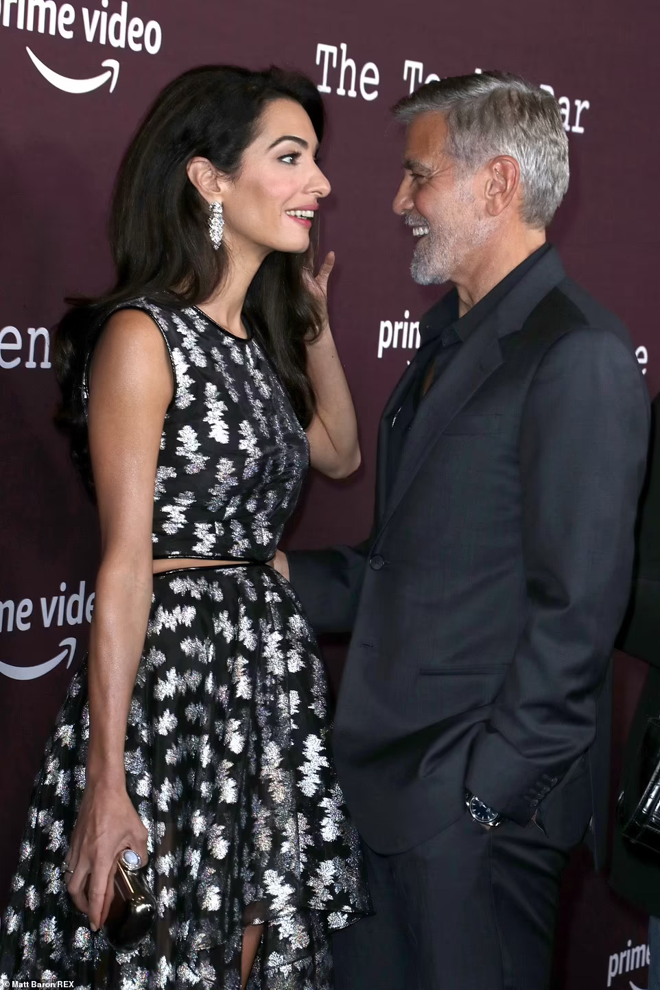 George and Amal Clooney stylishly arrive for The Tender Bar LA Premiere