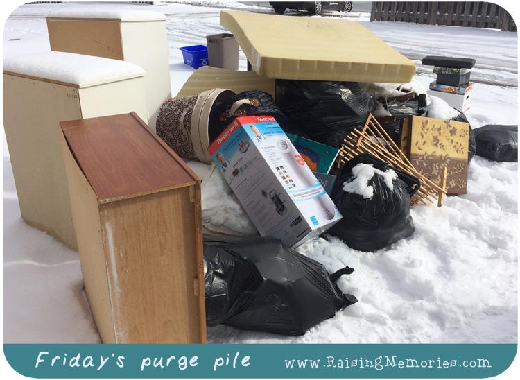 Huge Spring Cleaning Purge Pile