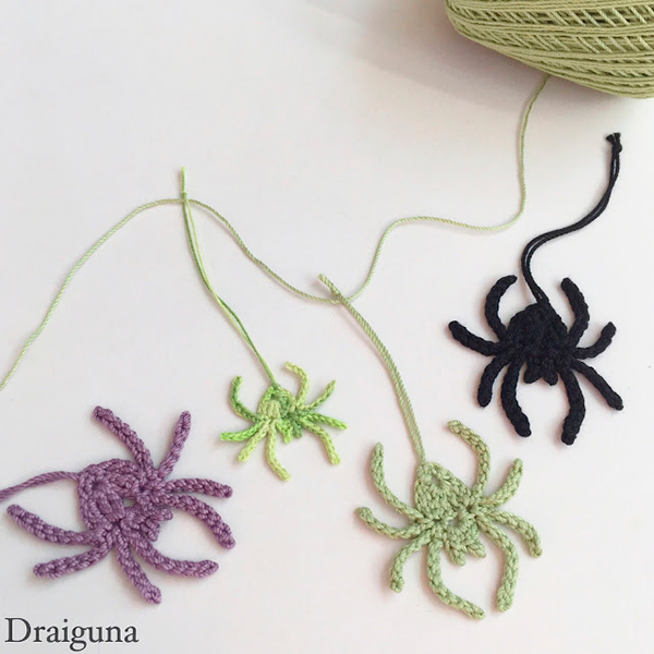 Crochet Spider by Draiguna