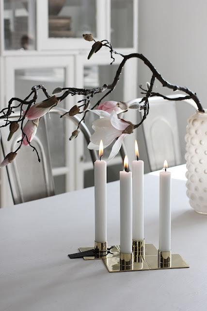 annelies design, webbutik, webbutiker, webshop, ljusstake, square, ljusstakar, mässing, adventsljusstake, inredning, magnolia, vas, bubbles