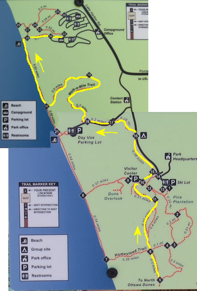 Hoffmaster trail map