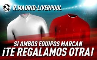 sportium promo champions Real Madrid vs Liverpool 6-4-2021