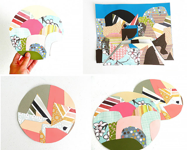 How to make paper collage landscape art