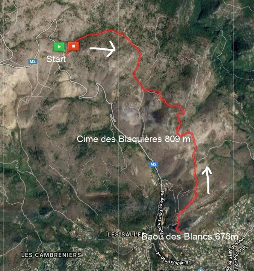 Plan des Noves to Baou des Blancs trail