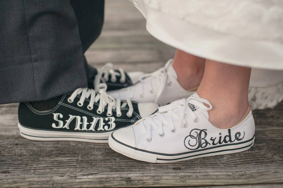 9aef3d14f5028 Personalized Converse Wedding Shoes | wedding bridal ideas