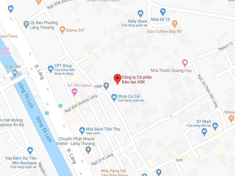 Bản đồ tới ASK