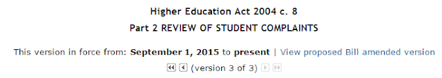 Image from Westlaw of an Act section due to be affected by a current Bill