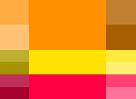 opciones paleta de colores para blog colores calidos