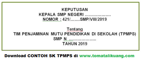 download contoh sk tpmps; tomatalikuang.com