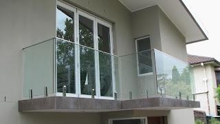 harga pagar kaca balkon