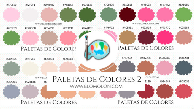 paletas de colores 2
