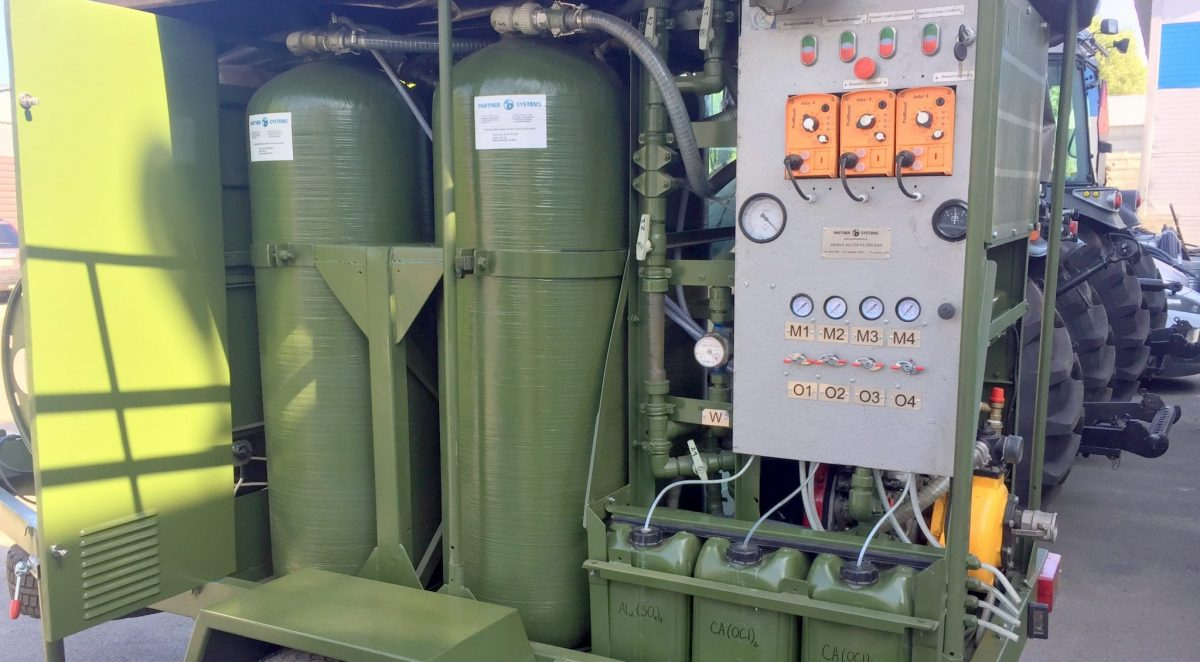 ЗСУ випробовують рухому станцію очищення води