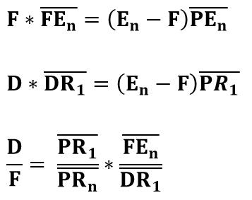 Ecuaciones de cálculo para extracción sólido-líquido en contracorriente
