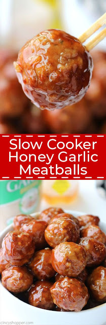 SLOW COOKER HONEY GARLIC MEATBALLS