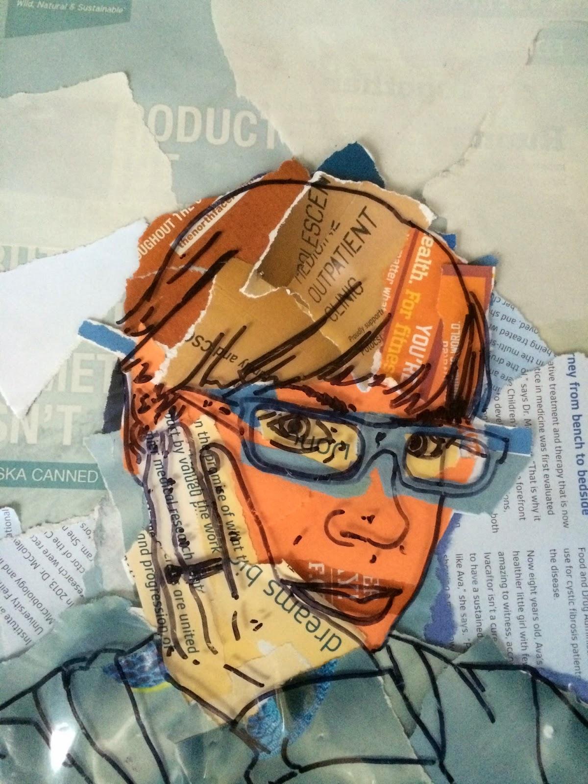 Project ART-A-DAY: Lesson: Color Scheme Selfies