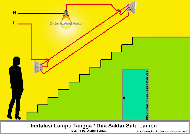 Cara Memasang Saklar Dua Arah (Two way switch)