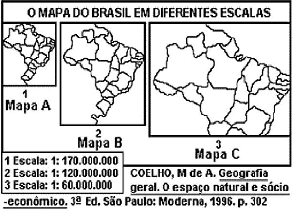 O mapa do Brasil em diferentes escalas
