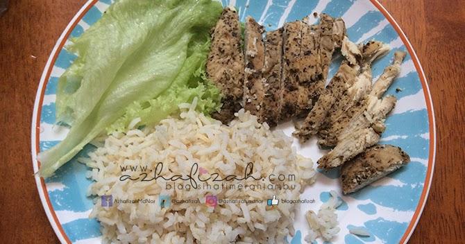 Menu Diet Lunch Resepi Ayam Bakar Lada Hitam Blog Sihatimerahjambu