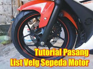 pasang list velg motor