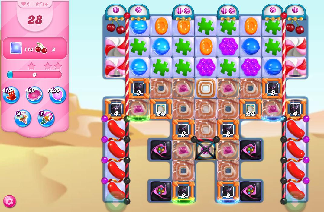 Candy Crush Saga level 9714