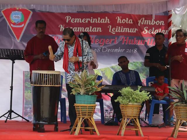 Leitimur Selatan Gelar Festival Seni dan Budaya di Pantai Hukurilla