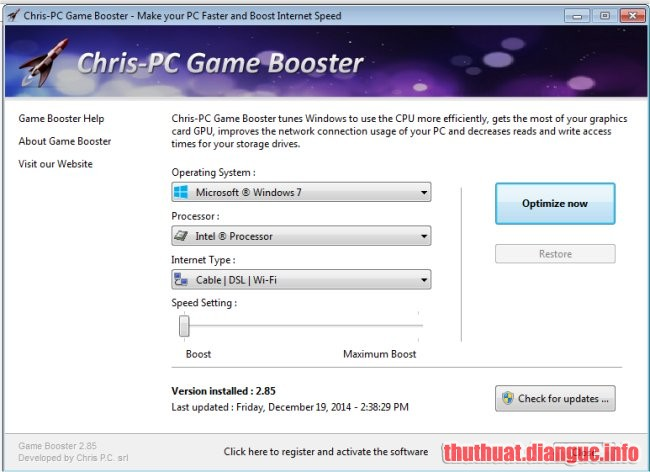 tie-smallDownload Chris-PC Game Booster 5.05 Full Crack