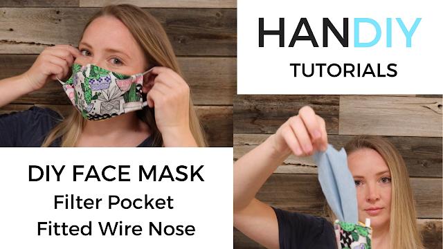 Face Mask Pattern Filter Pocket Fitted Nose