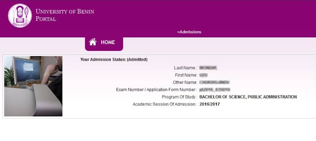 Admission Status Checking- Admitted