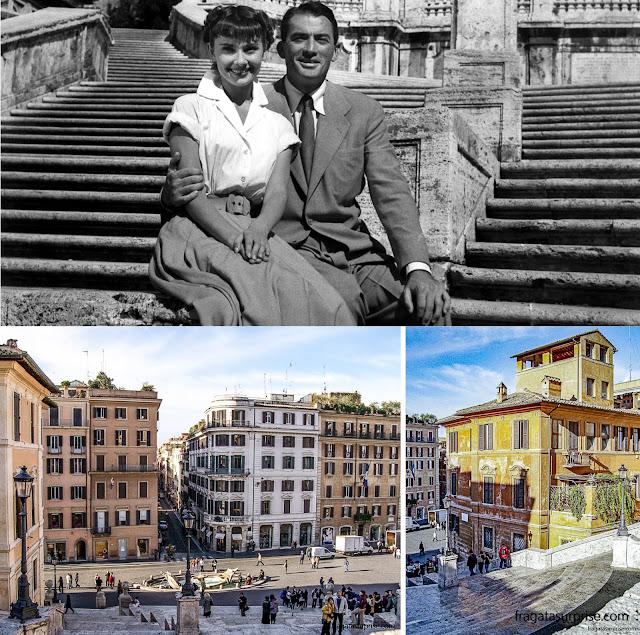 """Roma: a Escadaria Espanhola e o filme """"A Princesa e o Plebeu"""""""