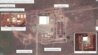 Satellite image of MQ-1C Gray Eagle drone base in Cameroon