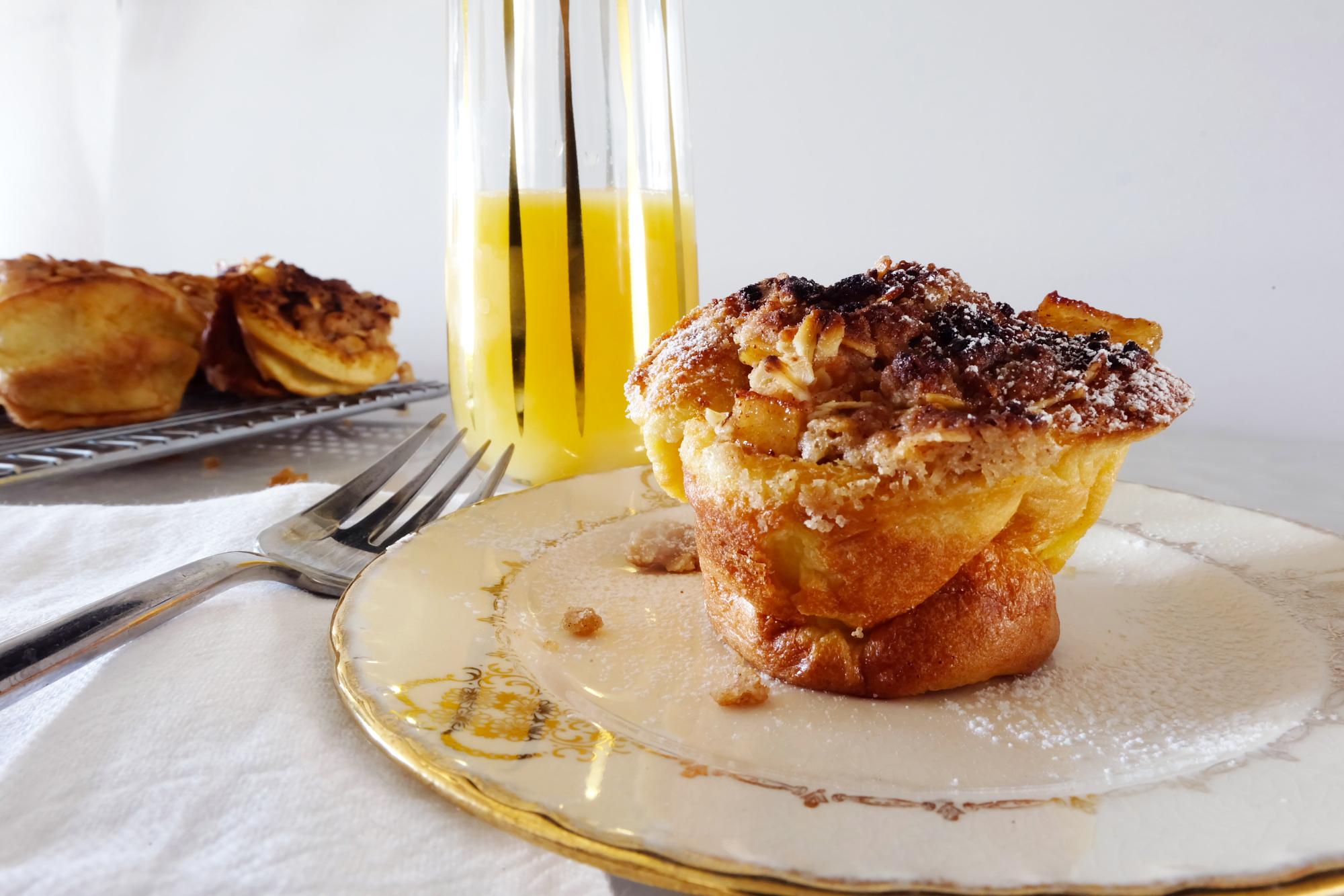 apple pancake bowls