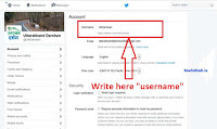 how to change my twitter url