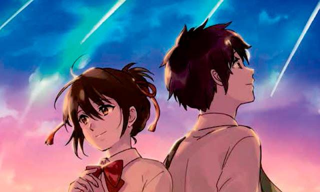 Taki y Mitsuha, los protagonistas de la película Your Name de Makoto Shinkai