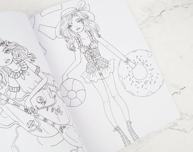 Lovelaughslipstick Blog - Natasha Itzcovitz The Whimsical Fashion Colouring Book Review