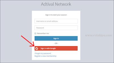 cara daftar akun Adtival network