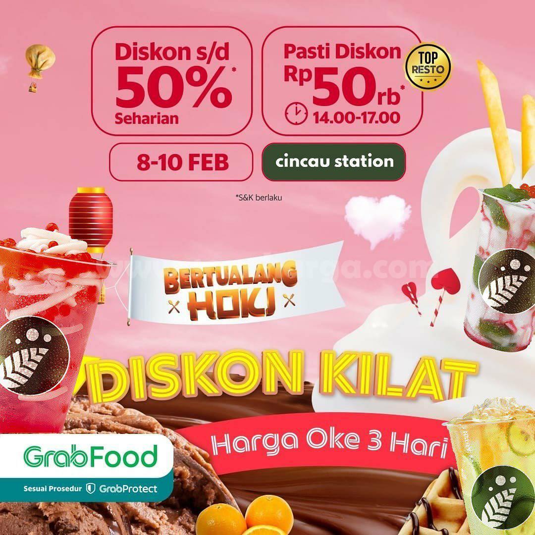 CINCAU STATION Promo DISKON KILAT GRABFOOD! HINGGA 50%