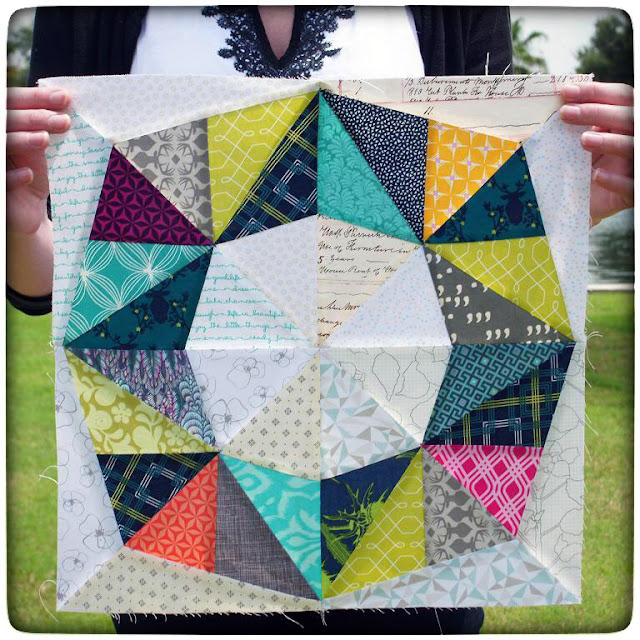 """Fractal Quilt Block"" by Patty Sloniger on Thistle Thicket Studio. www.thistlethicketstudio.com"