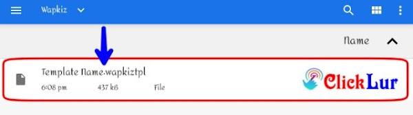 select .wapkiztpl file for uploading