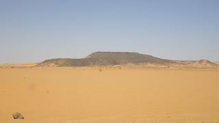 Entrance to desert from Khartoum
