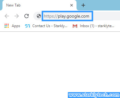 How to sign out of google play  for desktop step 1