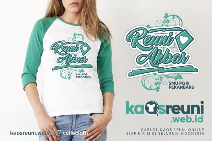 Contoh Desain Kaos Reuni Akbar SMU PGRI Pekanbaru - Kaos Reuni