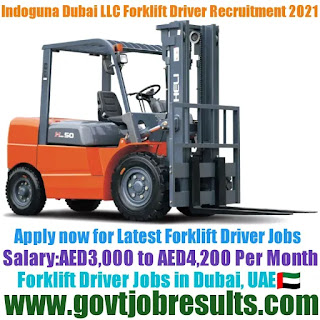 Indoguna Dubai LLC Forklift Driver Recruitment 2021-22
