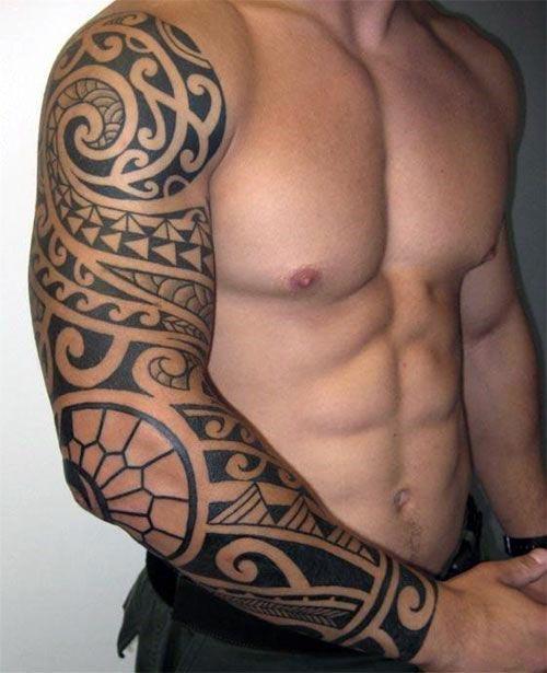 75+ Modern Tribal Tattoos for Guys (2019) Tatuaje Tribale