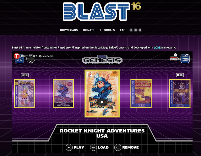 Blast-16 is an awesome Sega-centric front end for your Raspberry Pi