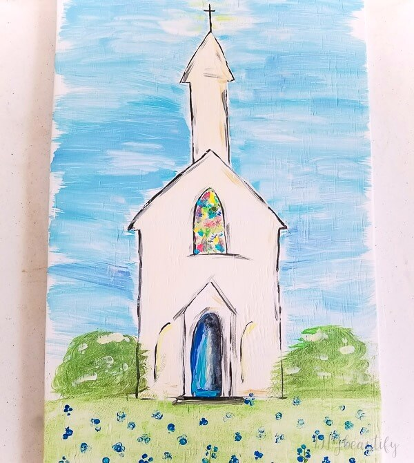 How To Paint A Simple Country Church Diy Beautify Creating Beauty At Home