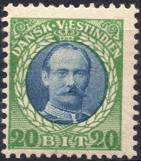 Danish West Indies 1907 King Frederick
