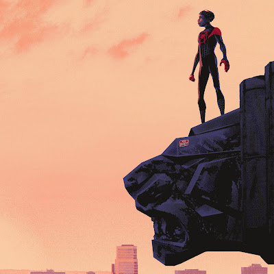 "New York Comic Con 2019 Exclusive Spider-Man: Into the Spider-Verse ""The One and Only Spider-Man"" Timed Edition Screen prints by Mark Englert x Bottleneck Gallery"