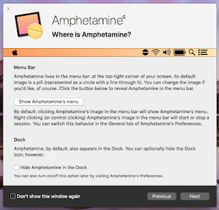 Amphetamine Next クリック後