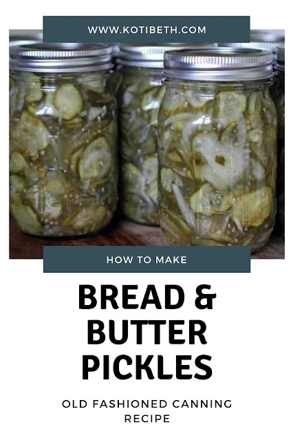 How to make old fashioned bread and butter pickles. This sweet and spicy home made canning recipe is the best recipe I've used. Learn how to can bread and butter pickles and make your own homemade easy brine.  This recipe canning is for DIY bread and butter pickles. Making zesty canned homemade pickles is easy.  Use garden fresh cucumbers for a recipe canned to preserve them for up to 18 months. #canning #pickles #canned #recipe