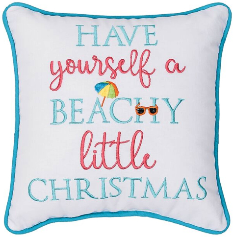 Have Yourself a Beachy Little Christmas Pillow